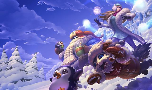 Risultati immagini per league of legends bard aspetto neve