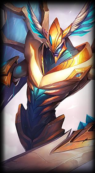 """When we first designed Aatrox, we thought the """"risky drain tank"""" fantasy  would be a cool strategic niche for Aatrox to fill."""